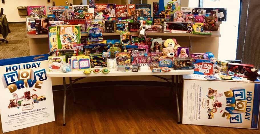 Employees in the Jacksonville, FL office collected 153 toy