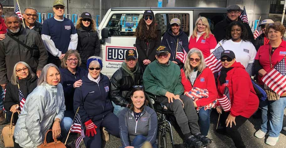 Freedom Mortgage Employees and Veterans participating in the Philadelphia Veteran's Day Parade
