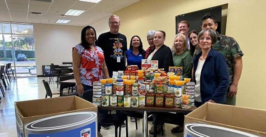 Our Deerfield Beach office collected 256 pounds of food providing over 213 meals to Feeding South Florida Food Bank.