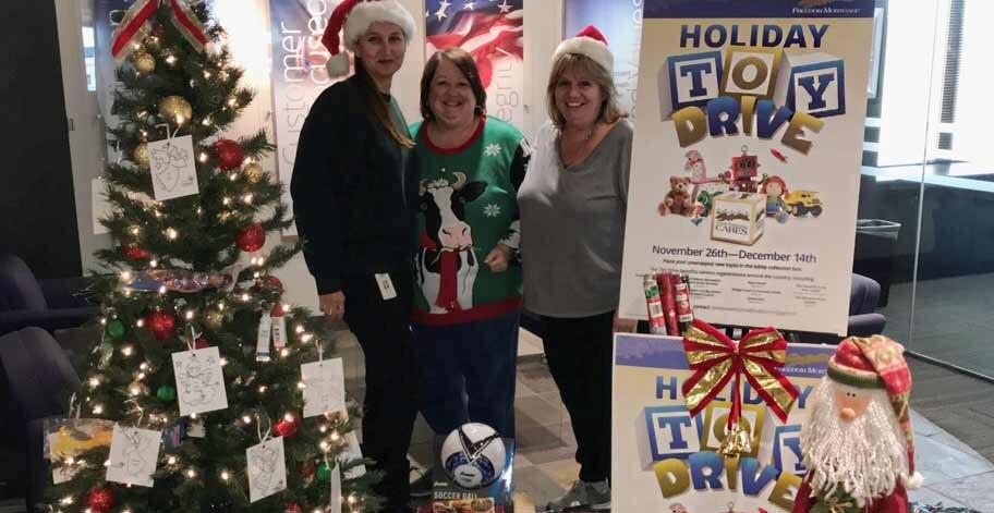 Employees in Phoenix, AZ donated 398 toys
