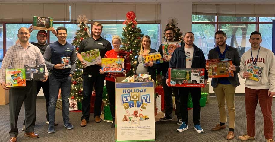 Tempe, AZ employees donated collected 68 toys