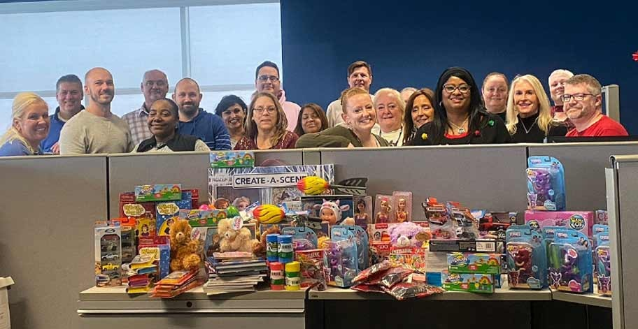 Our office in Indiana was able to collect over 265 toys for Indianapolis Children's Bureau