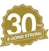30 Years and Growing badge