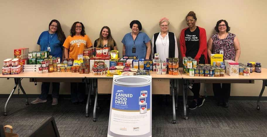 Freedom Mortgage Jacksonville office collected 371 items and $200 to be donated to the cause.