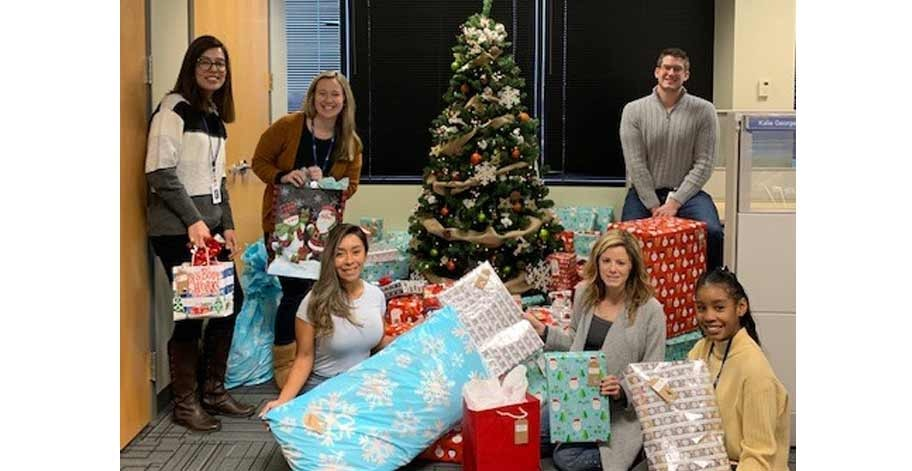 The Accounting Department partnered with Volunteers of America by Adopting a Family during the holidays, providing new toys for each member of the family of nine.