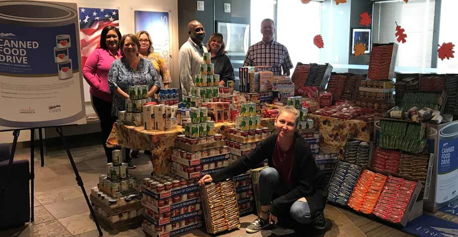 Employees in our Phoenix, AZ office worked together to collect 1,552 nonperishable items for Feeding America.