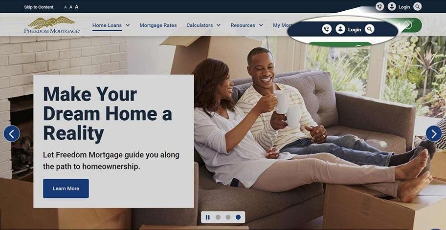 Freedom Mortgage login link