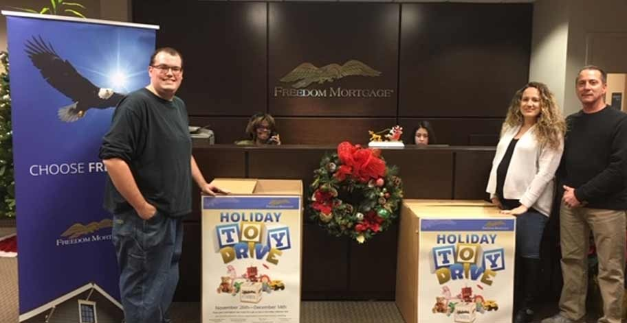 Melville, NY employees collected over 87 toys for the